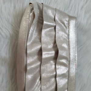 Victoria's Secret Bags - Victoria Secret Gold Fabric clutch make up case